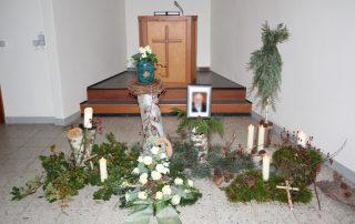 Trauer Dekoration Begräbnis Bestattung Tischlerei Grobe