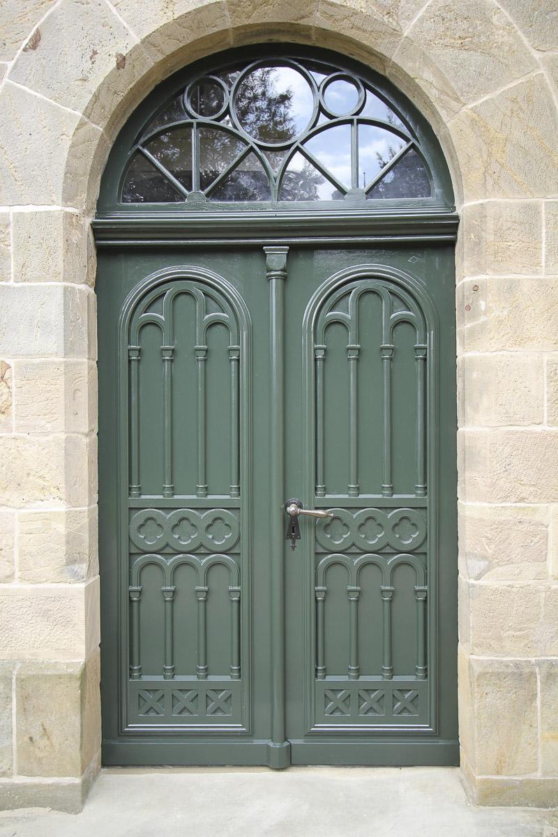 Restaurierung Reparatur Tür Fassade Tischlerei Grobe