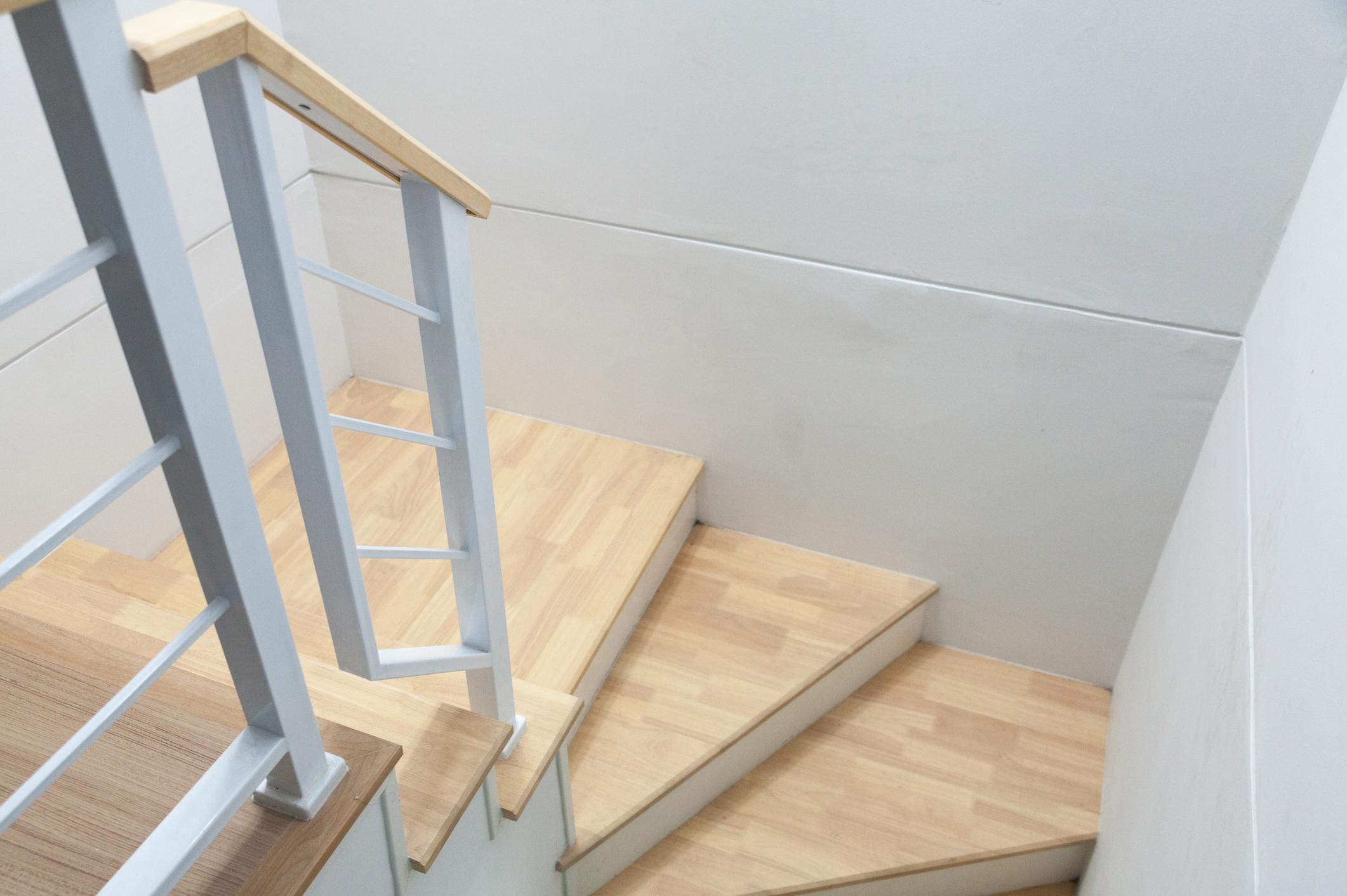 Holz Treppe Stufen im Haus Wohnung